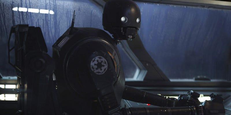 Illustration for article titled El androide asesino K-2SO es la estrella de nuevo tráiler de Rogue One: A Star Wars Story