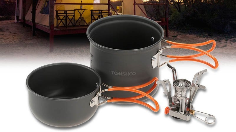 TOMSHOO Camp Stove Set, $14 with code TOMY2825