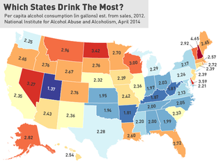 Illustration for article titled Is New Hampshire Really The Drunkest State In The Union?