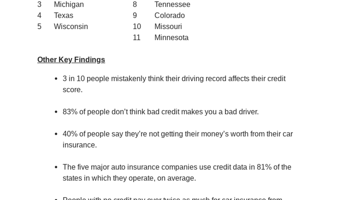 Your Low Credit Score Means Higher Car Insurance Payments In These