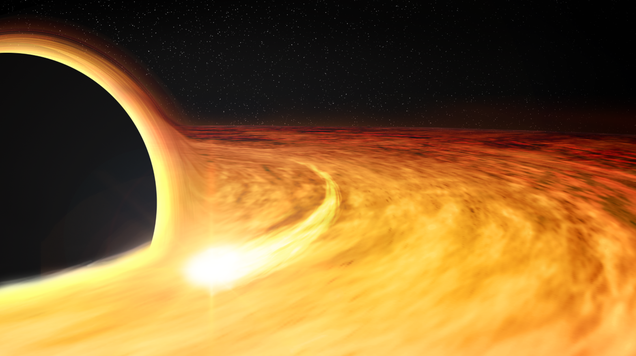 A Star Fell Into a Black Hole, Revealing Its Super-Fast Spin