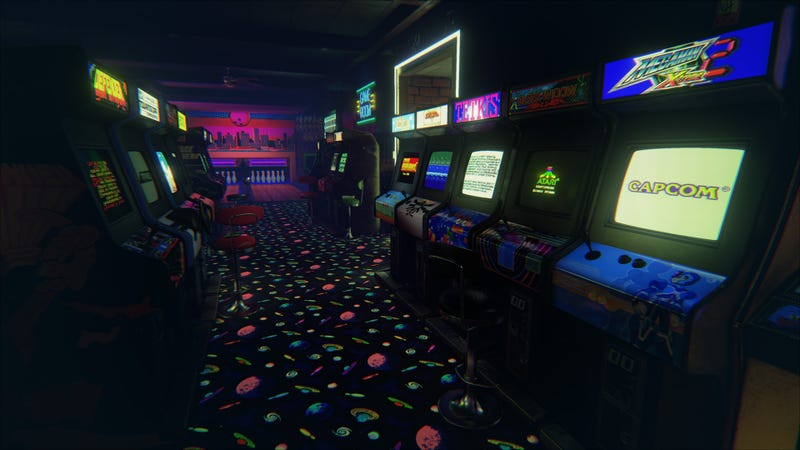 Illustration For Article Titled This Amazing 3980s Arcade Is The Best Virtual