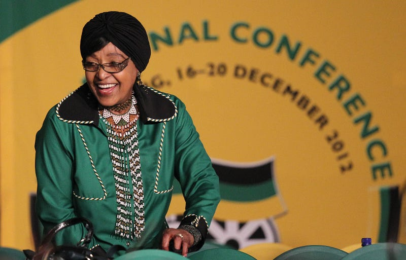 Winnie Madikizela-Mandela in Bloemfontein, South Africa, in December 2012