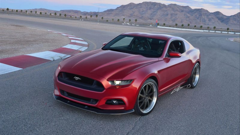 Illustration for article titled This Hot Rendering Adds Some Muscle To The 2015 Ford Mustang