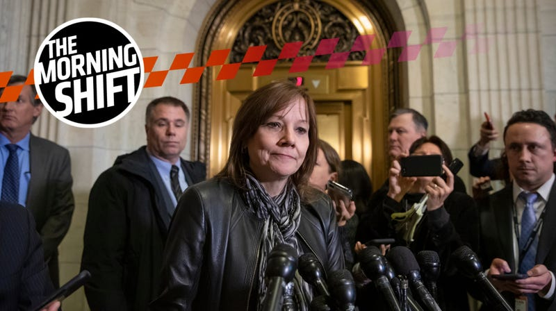 Mary Barra speaks with reporters on Dec. 5 in D.C.