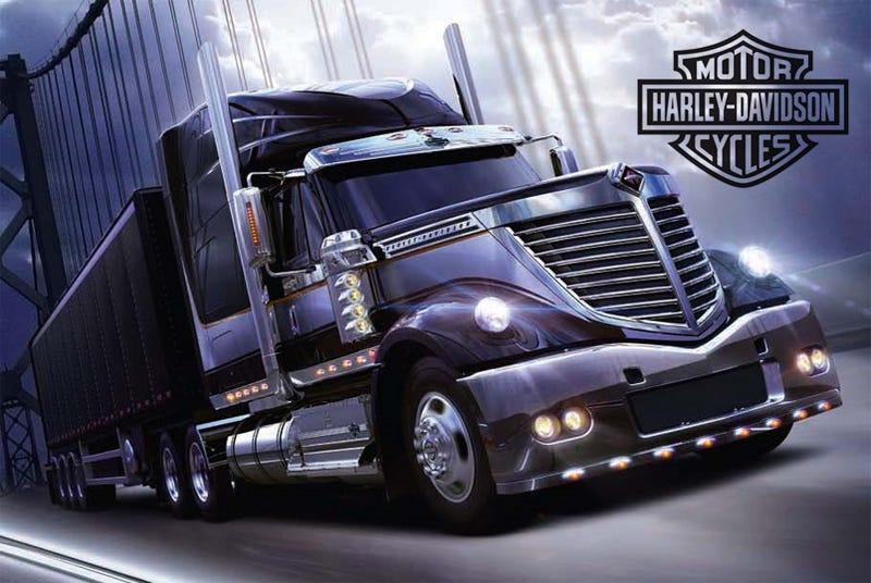 Illustration for article titled International Lonestar Harley-Davidson Special Edition: A Truck For Real Men