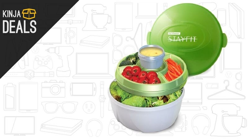 Illustration for article titled This $8 Container Helps You Eat Salad For Lunch, For Real This Time
