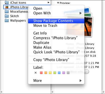 How to Recover an Old iPhoto Library