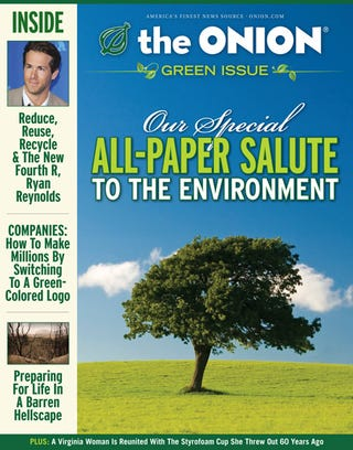 Illustration for article titled Our Special All-Paper Salute To The Environment
