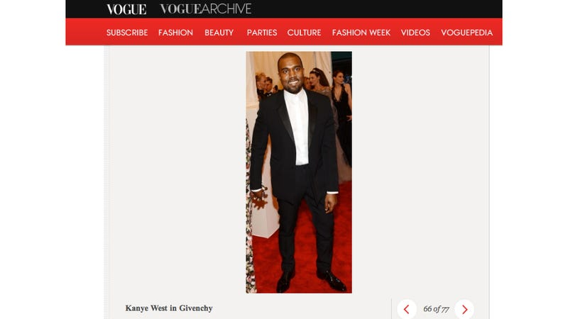 Illustration for article titled Vogue Crops Kim Kardashian Out of Its Met Ball Slideshow