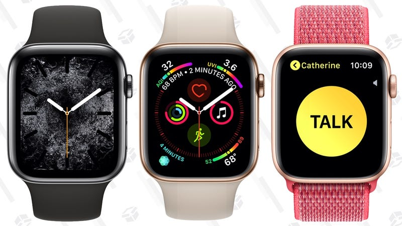 Apple Watch Series 4 40mm | $339 | Amazon | Multiple models on sale, with discount shown at checkout after couponApple Watch Series 4 44mm | $369 | Amazon | Multiple models on sale, with discount shown at checkout after couponApple Watch Series 4 GPS + Cellular Stainless Steel 40mm | $639 | AmazonApple Watch Series 4 GPS + Cellular Stainless Steel 44mm | $689 | Amazon
