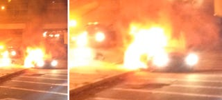 Illustration for article titled Most New Jersey Driver Ever Crashes Lambo, Leaves While It Burns