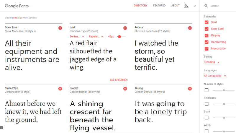 Illustration for article titled Google Fonts' Updated Website Makes It Easy to Find a Good-Looking Font