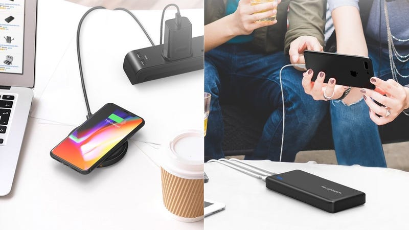 RAVPower Fast Wireless Charger with Quick Charge 3.0 Wall Charger | $33 | AmazonRAVPower 26,800mAh Battery Pack | $33 | Amazon