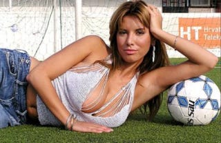 Illustration for article titled Croatian Soccer Team Signs Field-Fornication Fetishist WAG To A Roster Spot