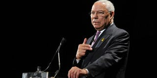 Colin Powell, former secretary of state, speaking at an event in 2009 (Mike Coppola/Getty Images for IRC)