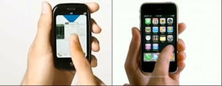 Illustration for article titled Look Familiar? Bell Canada's Palm Pre Ad Mimics The iPhone