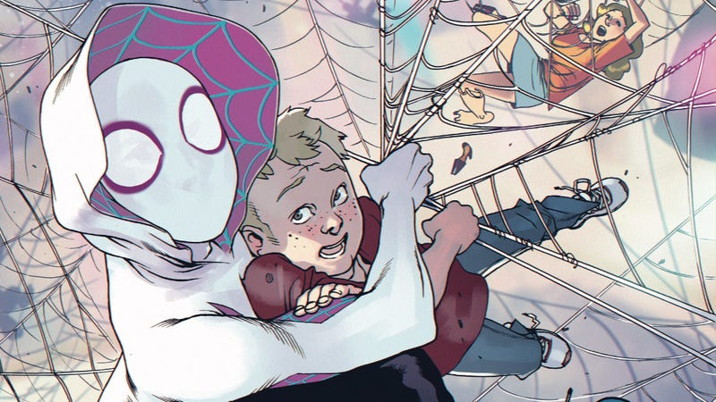 Illustration for article titled Spider-Gwen's date night goes awry in this exclusive preview