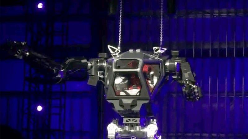 Jeff Bezos Aspiring Supervillain Tests Out Gigantic Robot Suit