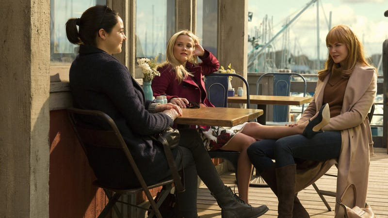 Shailene Woodley, Reese Witherspoon, and Nicole Kidman in season one of Big Little Lies. (Photo: Hilary Bronwyn Gayle/HBO)