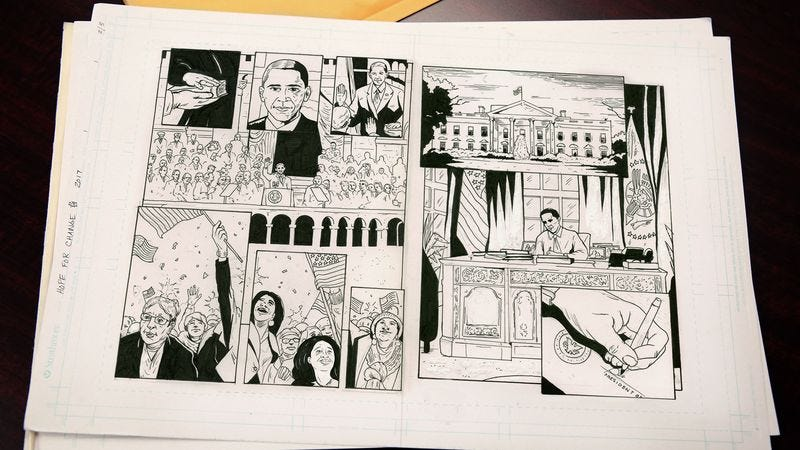 According to former President Barack Obama, only the graphic novel format had the expressive palette capable of truly capturing his eight years in office.