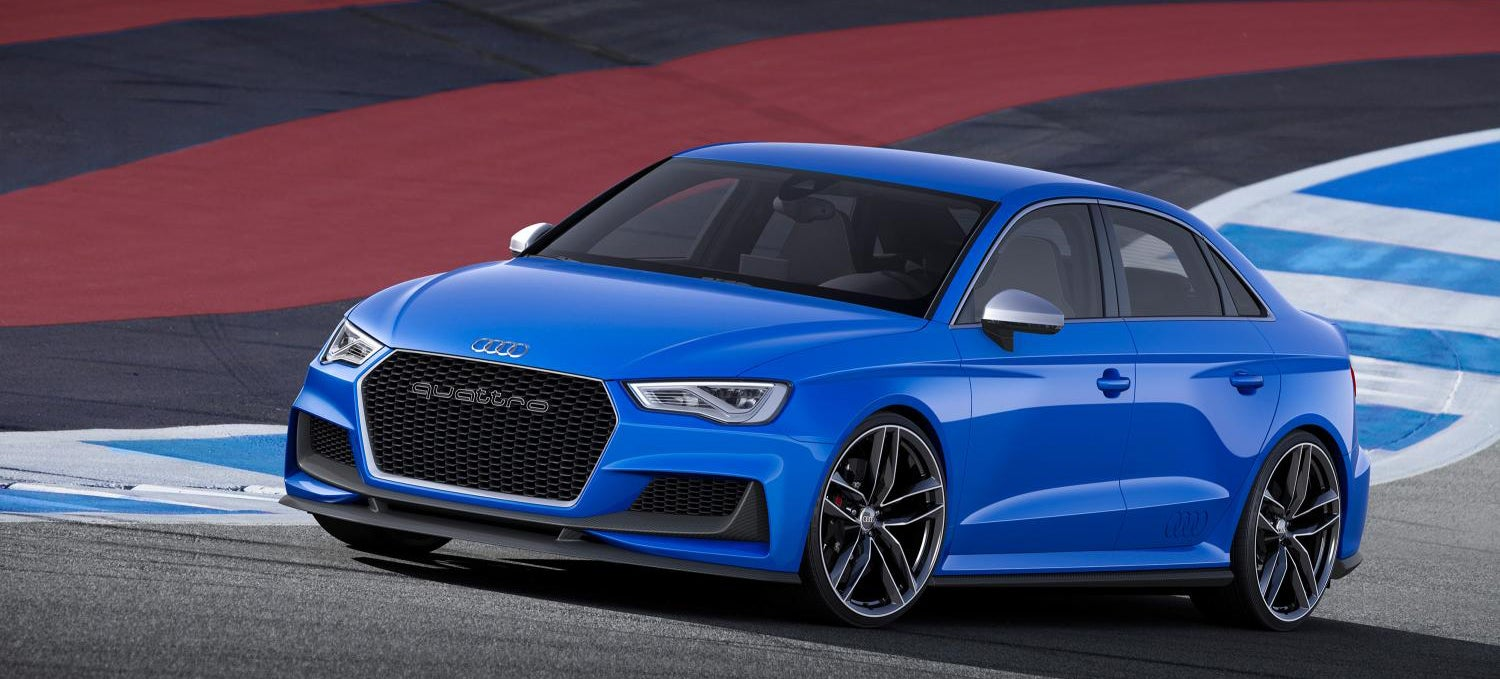 the audi a3 clubsport quattro is a 525 hp five cylinder monster sedan. Black Bedroom Furniture Sets. Home Design Ideas