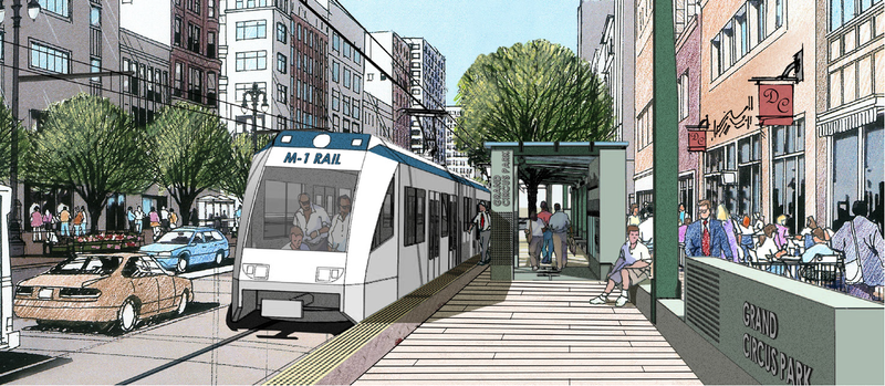 Illustration for article titled Renderings Are Boring: A Pictorial Of The Woodward Streetcar Line