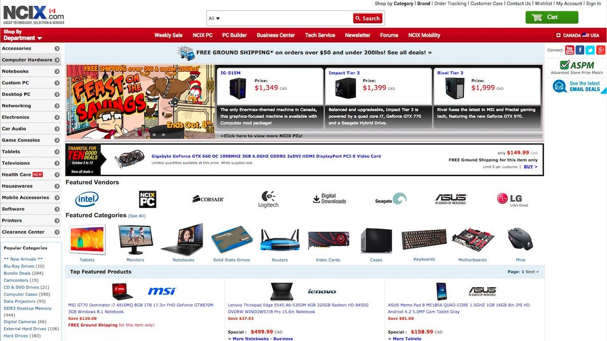 Five Best Places to Buy Computer Parts