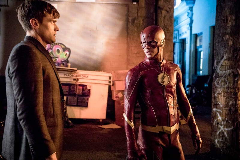 Hartley Sawyer, Grant Gustin (Photo: Jack Rowand/The CW)
