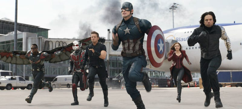 Team Cap jumps into action in Captain America: Civil War. All images: Disney