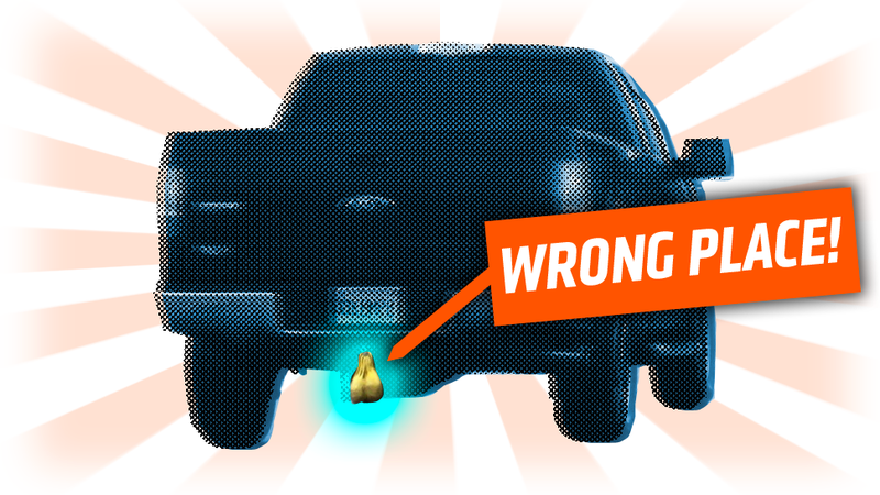 Illustration for article titled Where Should Truck Nuts Be, Really?
