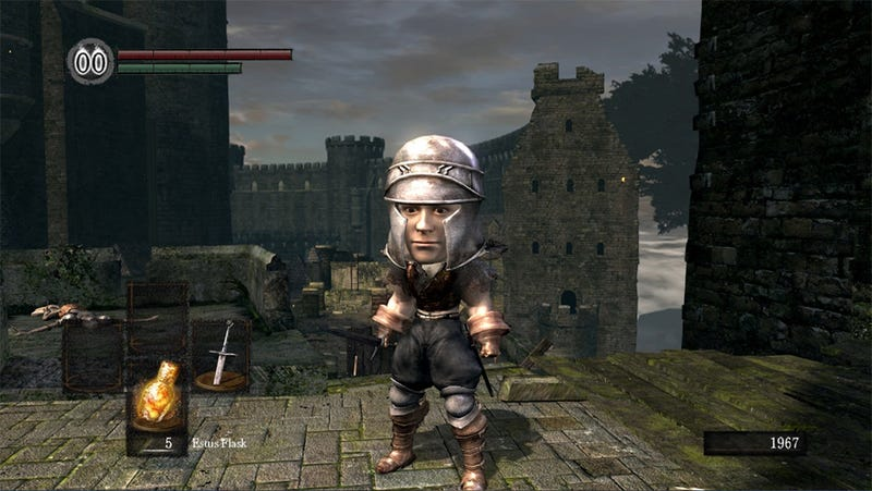 Illustration for article titled Dark Souls Doesn't Look so Tough in Big Head Mode