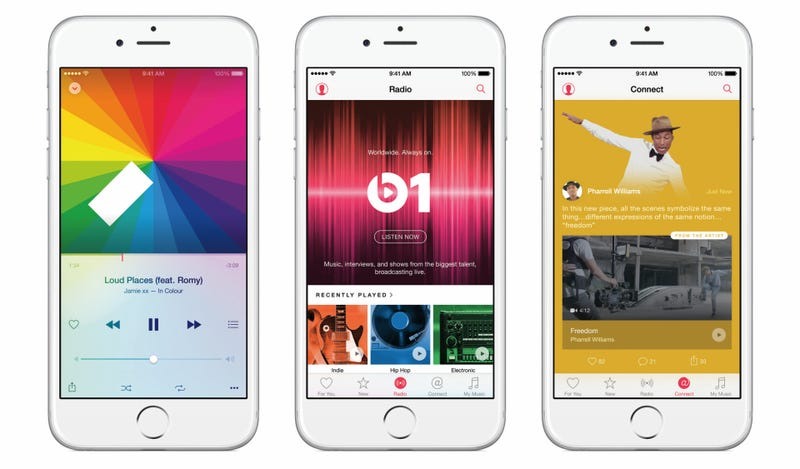 Illustration for article titled Apple Music Hands-On: I Can't Tell You If It Works But It Looks Cool