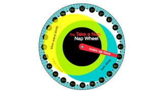 Illustration for article titled Calculate the Best Time to Nap with This Interactive Nap Wheel