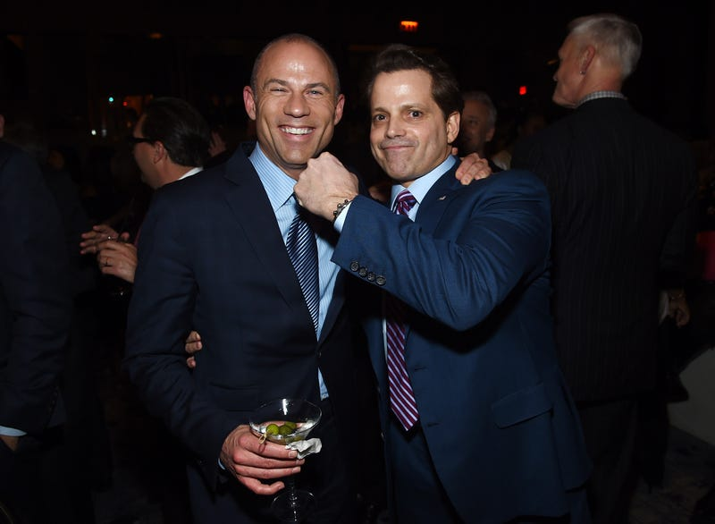 Michael Avenatti and Anthony Scaramucci attend the Hollywood Reporter's Most Powerful People In Media 2018 at the Pool on April 12, 2018, in New York City.