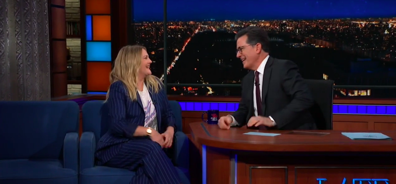 On The Late Show Hollywood Vet Drew Barrymore Urges Women To Earn