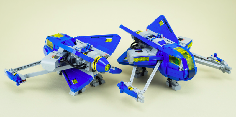 Illustration for article titled I Need These Classic Lego Space-Inspired Starfighters In My Life
