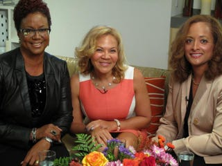 Harriette Cole, host of The Root Live; certified divorce coach Tamara Harris Robinson; and Prudential's ShirleyAnn RobertsonHarriette Cole Media