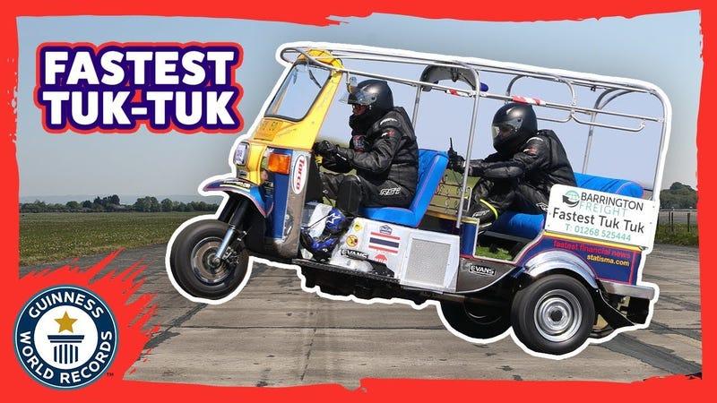 Illustration for article titled The World's Fastest Tuk Tuk Hit 74 MPH