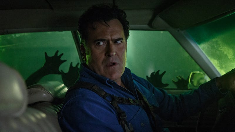 Ash Williams (Bruce Campbell) in his beloved Delta.