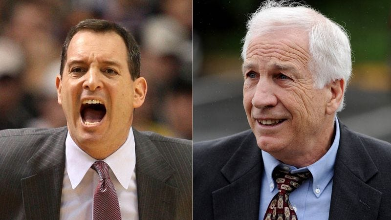 Illustration for article titled Jerry Sandusky Horrified By Behavior Of Rutgers Basketball Coach