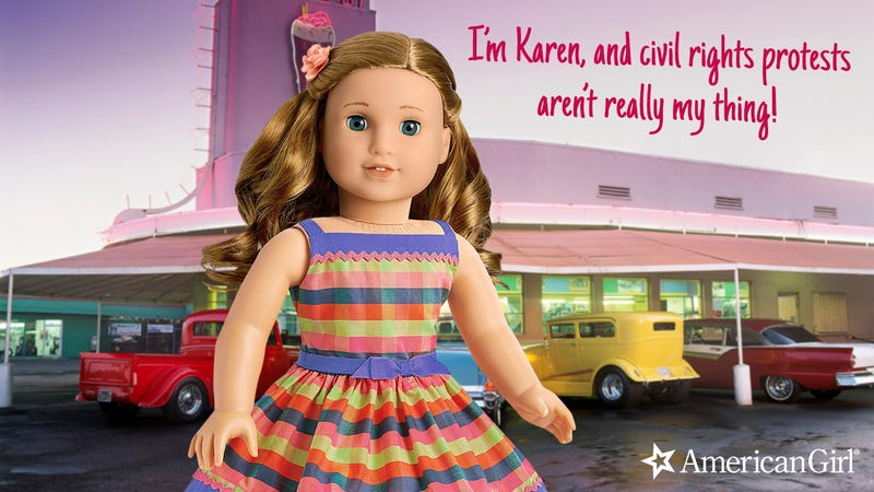 Illustration for article titled Girl Power! American Girl Has Released A New Doll Who Was Alive During The Civil Rights Movement But Didn't Really Help At All