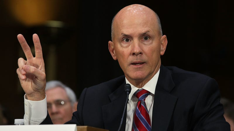 Former CEO of Equifax Richard Smith testifies during a hearing before Senate Commerce, Science and Transportation Committee November 8, 2017 on Capitol Hill in Washington, DC.