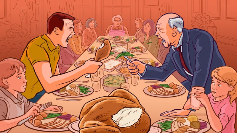 Illustration for article titled How to Avoid Holiday Dinner Arguments with Relatives