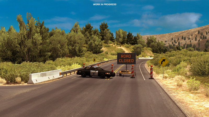 Illustration for article titled American Truck Simulator To Close Major Highway For As Long As It Stays Closed In Real Life
