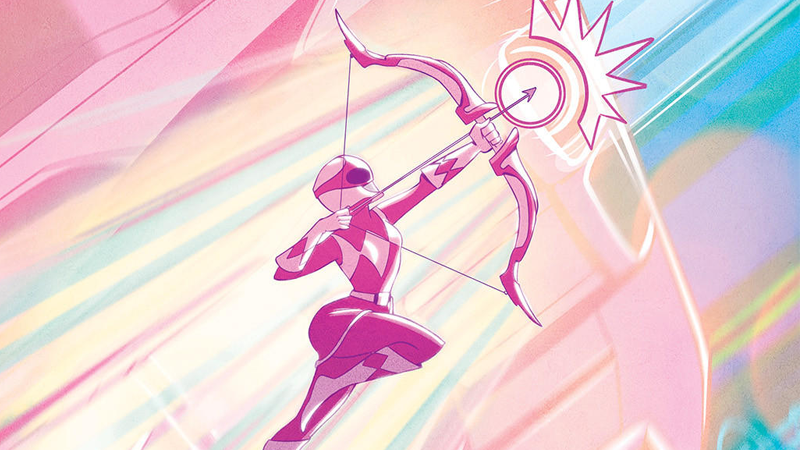 Power Rangers: Pink #1 Main Cover by Elsa Charretier.