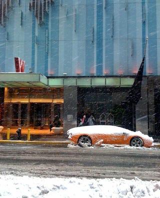 Illustration for article titled Lamborghini, Snow, Times Square, Today