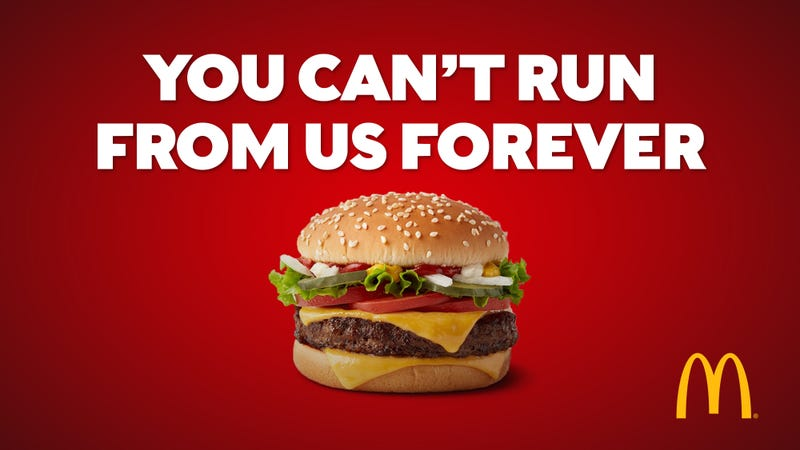 McDonald's Appealing To Health-Conscious Consumers With New 'You Can't Run From Us Forever' Ad Campaign