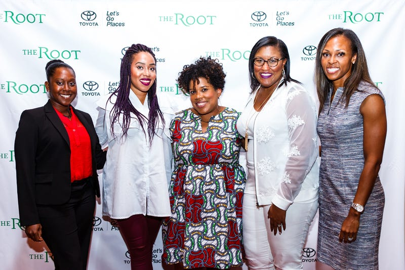 Young, Fabulous and Female panelists with The Root's editor-in-chief, Danielle Belton, center (Tyson Pough for the Amber Studio)