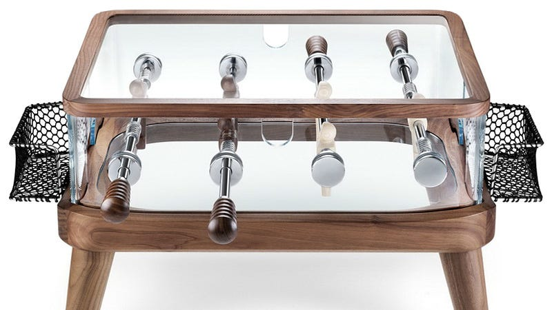 Compact Foosball Coffee Table Makes For A Great Alternative To After - Foosball coffee table with stools